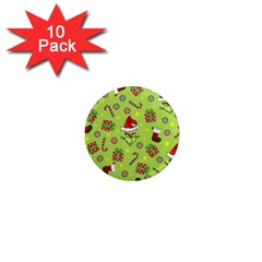 Grinch Pattern 1  Mini Magnet (10 Pack)  by Valentinaart