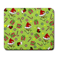 Grinch Pattern Large Mousepads by Valentinaart