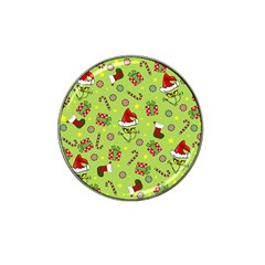 Grinch Pattern Hat Clip Ball Marker (10 Pack) by Valentinaart
