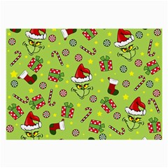 Grinch Pattern Large Glasses Cloth by Valentinaart
