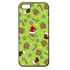 Grinch Pattern Apple Iphone 5 Seamless Case (black)