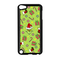 Grinch Pattern Apple Ipod Touch 5 Case (black) by Valentinaart