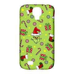 Grinch Pattern Samsung Galaxy S4 Classic Hardshell Case (pc+silicone) by Valentinaart