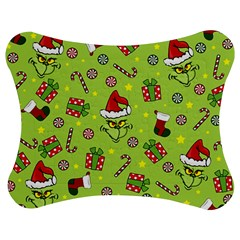 Grinch Pattern Jigsaw Puzzle Photo Stand (bow)
