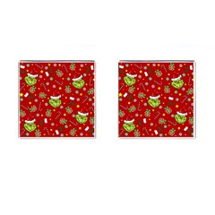 Grinch Pattern Cufflinks (square) by Valentinaart