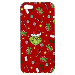 Grinch Pattern Apple Iphone 5 Hardshell Case by Valentinaart