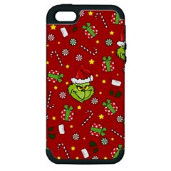 Grinch Pattern Apple Iphone 5 Hardshell Case (pc+silicone) by Valentinaart