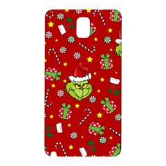 Grinch Pattern Samsung Galaxy Note 3 N9005 Hardshell Back Case by Valentinaart