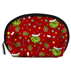 Grinch Pattern Accessory Pouches (large)  by Valentinaart