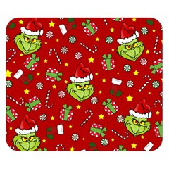 Grinch Pattern Double Sided Flano Blanket (small)  by Valentinaart