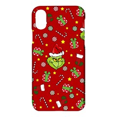 Grinch Pattern Apple Iphone X Hardshell Case by Valentinaart