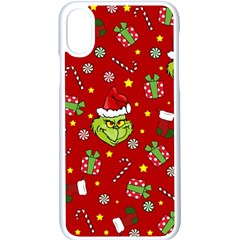 Grinch Pattern Apple Iphone X Seamless Case (white) by Valentinaart