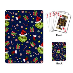 Grinch Pattern Playing Card