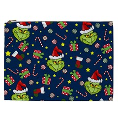 Grinch Pattern Cosmetic Bag (xxl)  by Valentinaart