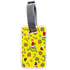 Grinch Pattern Luggage Tags (one Side)