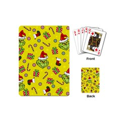 Grinch Pattern Playing Cards (mini)  by Valentinaart