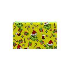 Grinch Pattern Cosmetic Bag (xs) by Valentinaart