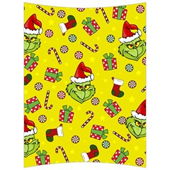 Grinch Pattern Back Support Cushion by Valentinaart