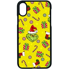 Grinch Pattern Apple Iphone X Seamless Case (black) by Valentinaart