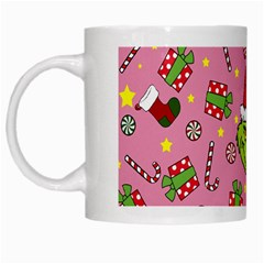 Grinch Pattern White Mugs by Valentinaart