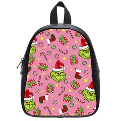 Grinch Pattern School Bag (small) by Valentinaart