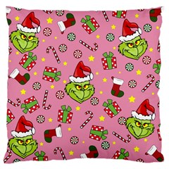 Grinch Pattern Large Cushion Case (two Sides) by Valentinaart