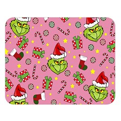 Grinch Pattern Double Sided Flano Blanket (large)  by Valentinaart