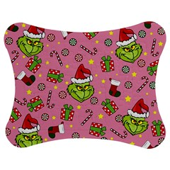 Grinch Pattern Jigsaw Puzzle Photo Stand (bow) by Valentinaart