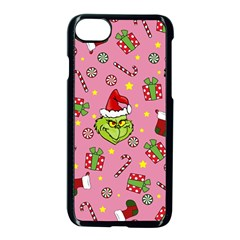 Grinch Pattern Apple Iphone 8 Seamless Case (black) by Valentinaart