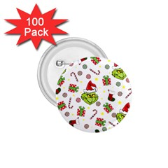 Grinch Pattern 1 75  Buttons (100 Pack)