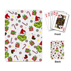 Grinch Pattern Playing Card by Valentinaart