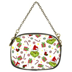 Grinch Pattern Chain Purses (two Sides)  by Valentinaart