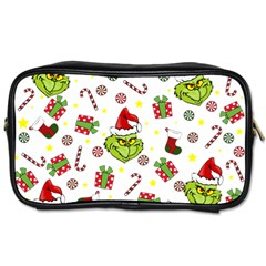 Grinch Pattern Toiletries Bags 2 Side by Valentinaart