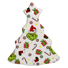 Grinch Pattern Ornament (christmas Tree)  by Valentinaart