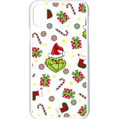 Grinch Pattern Apple Iphone X Seamless Case (white)