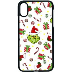 Grinch Pattern Apple Iphone X Seamless Case (black)