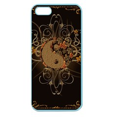 The Sign Ying And Yang With Floral Elements Apple Seamless Iphone 5 Case (color) by FantasyWorld7