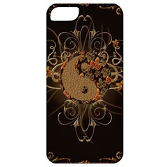 The Sign Ying And Yang With Floral Elements Apple Iphone 5 Classic Hardshell Case by FantasyWorld7