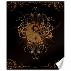 The Sign Ying And Yang With Floral Elements Canvas 20  X 24   by FantasyWorld7
