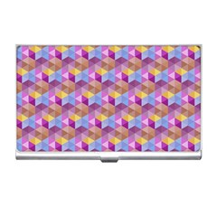 Hexagon Cube Bee Cell Pink Pattern Business Card Holders