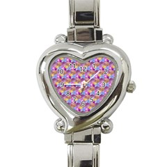 Hexagon Cube Bee Cell Pink Pattern Heart Italian Charm Watch