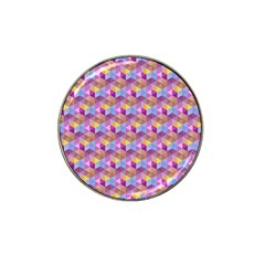 Hexagon Cube Bee Cell Pink Pattern Hat Clip Ball Marker