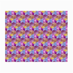 Hexagon Cube Bee Cell Pink Pattern Small Glasses Cloth