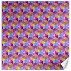 Hexagon Cube Bee Cell Pink Pattern Canvas 12  X 12   by Cveti