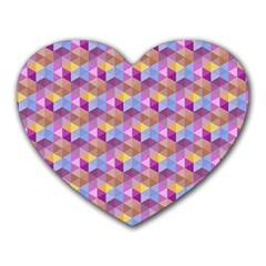 Hexagon Cube Bee Cell Pink Pattern Heart Mousepads