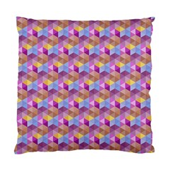 Hexagon Cube Bee Cell Pink Pattern Standard Cushion Case (one Side)