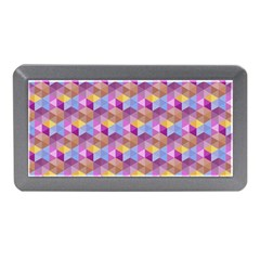 Hexagon Cube Bee Cell Pink Pattern Memory Card Reader (mini)