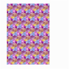 Hexagon Cube Bee Cell Pink Pattern Large Garden Flag (two Sides)