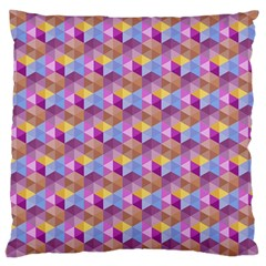 Hexagon Cube Bee Cell Pink Pattern Large Cushion Case (one Side)