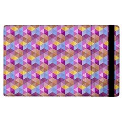 Hexagon Cube Bee Cell Pink Pattern Apple Ipad 2 Flip Case by Cveti